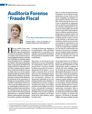 Auditoria forense y fraude fiscal