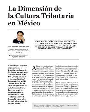La dimensión de la cultura tributaria en México