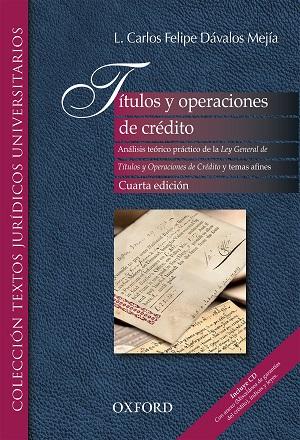 Títulos y Operaciones de Crédito - L. Carlos Dávalos Mejía