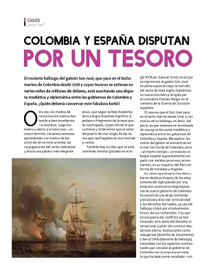 Colombia y España disputan tesoro