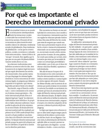 Importancia Derecho Internacional Privado