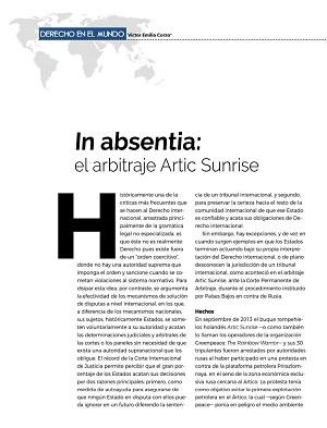 In Absienta - El arbitraje del Artic Sunrise
