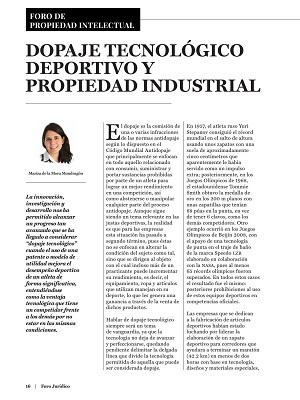 Dopaje Tecnológico Deportivo y Propiedad Industrial