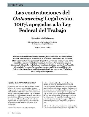 Las contrataciones outsourcing están apegadas a la LFT