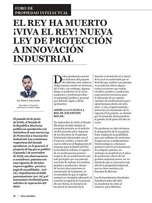 Nueva ley de protección a innovación industrial