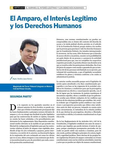 El amparo, el interés legitimo y los derechos humanos 2a parte