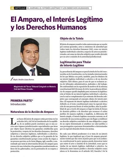 El amparo, el interés legitimo y los derechos humanos