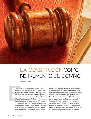 La constitución como instrumento de dominio