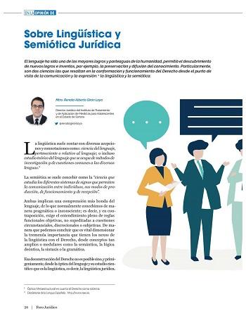 Sobre lingüística y semiótica jurídica