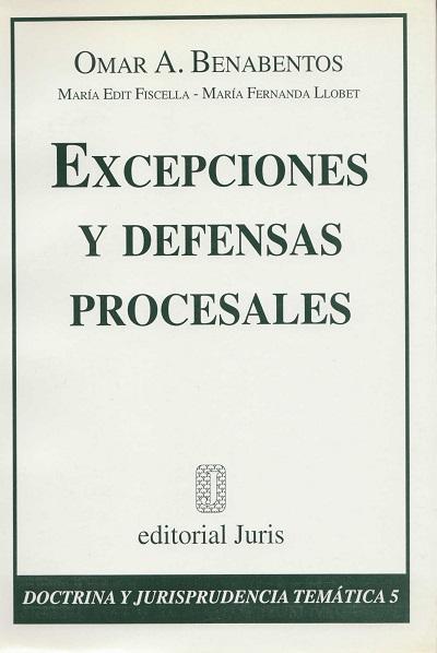 Excepciones y Defensas Procesales - Omar_Benabentos