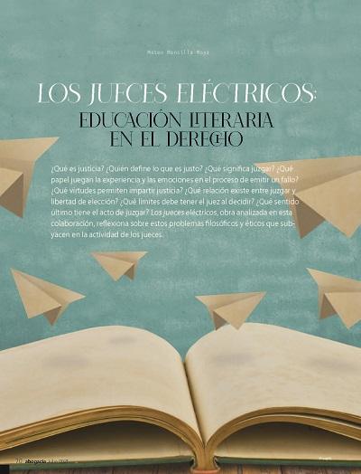 Los jueces eléctricos - educación literaria en elLos jueces eléctricos - educación literaria en el derecho - Mateo Mansilla-Moya derecho - Mateo Mansilla-Moya