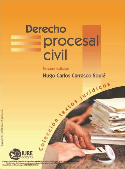 Derecho Procesal Civil - Hugo Carlos Carrasco Soulé
