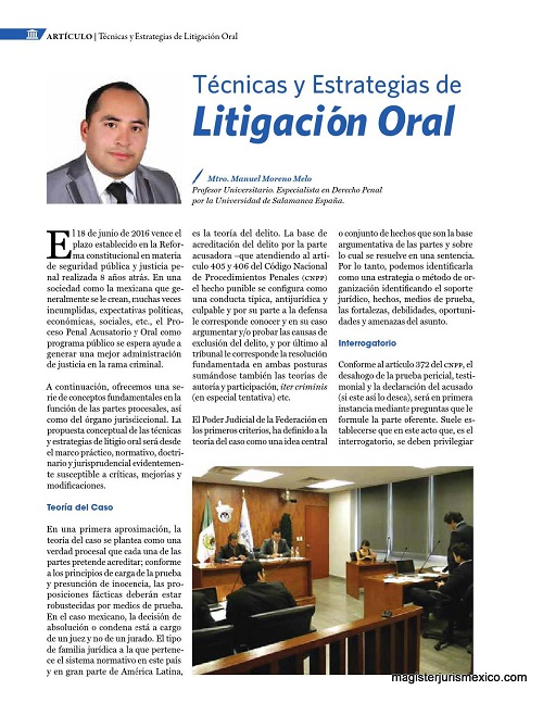 Técnicas y estrategias de litigación oral